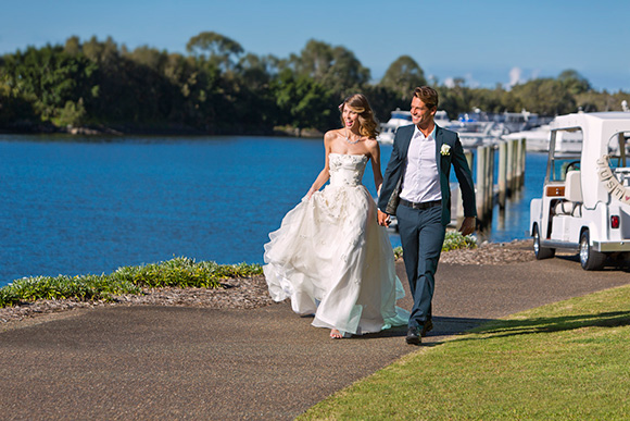 InterContinental Sanctuary Cove Resort - Wedding Couple with Buggy