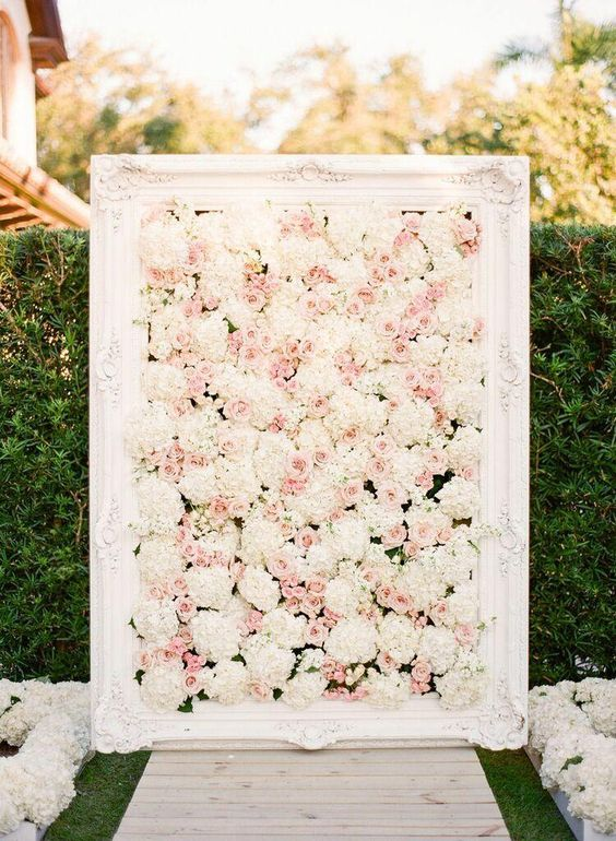 Soft beautiful wedding floral wedding backdrop to compliment your big day