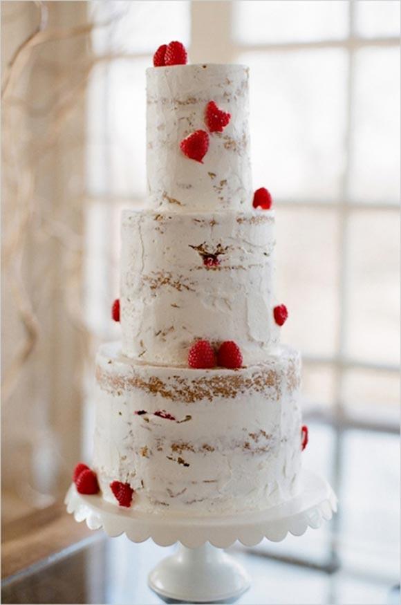 Naked wedding cake - Little Bear Cakery