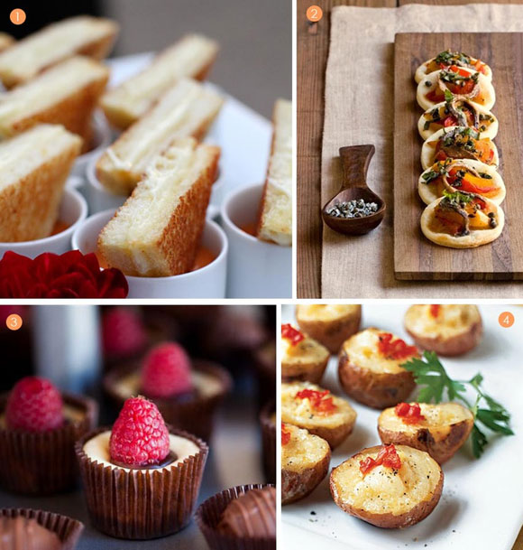 mini food ideas to keep your wedding guests happily fed