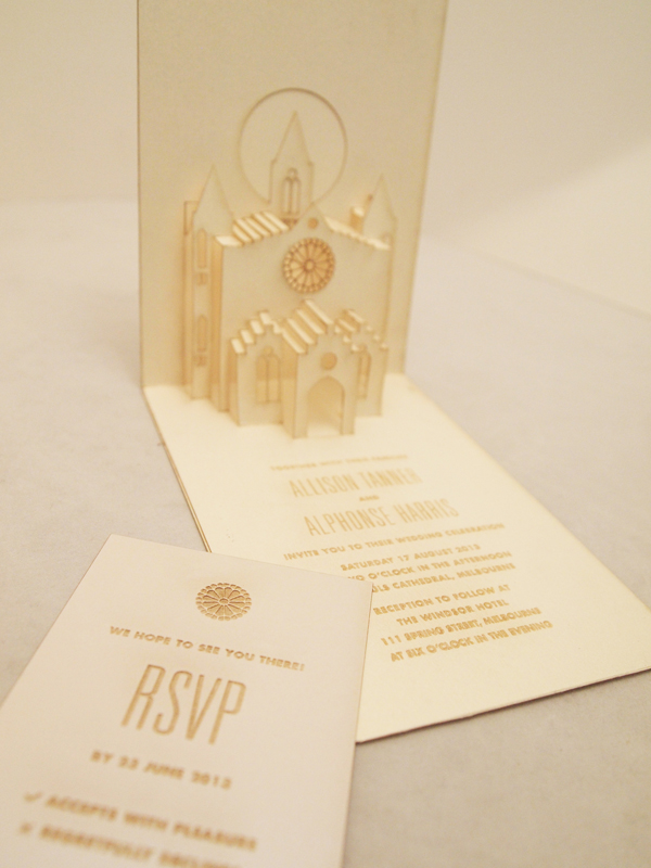Laser Cut Wedding Stationary - Classic Wedding Invitations