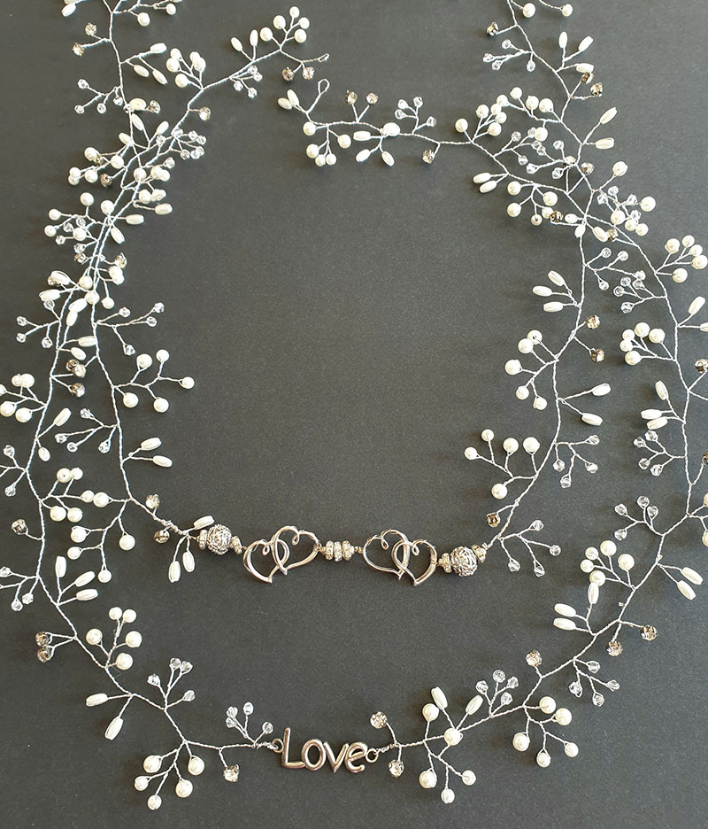 Short silver love vines by Exquisites by Vennessa