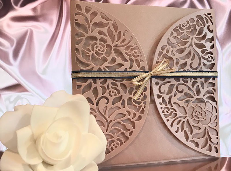 Pink Pocket Invitation by Hand Made By Jules