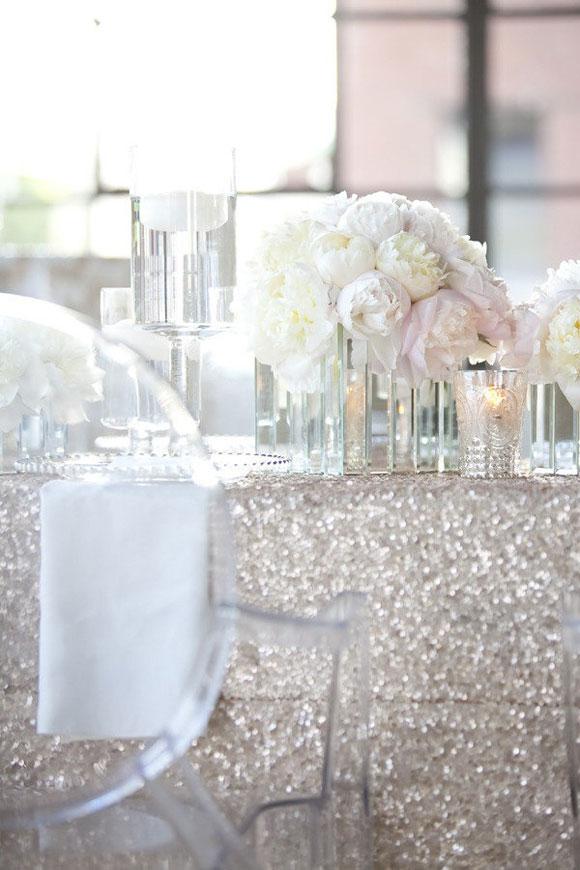 Silver wedding day ideas