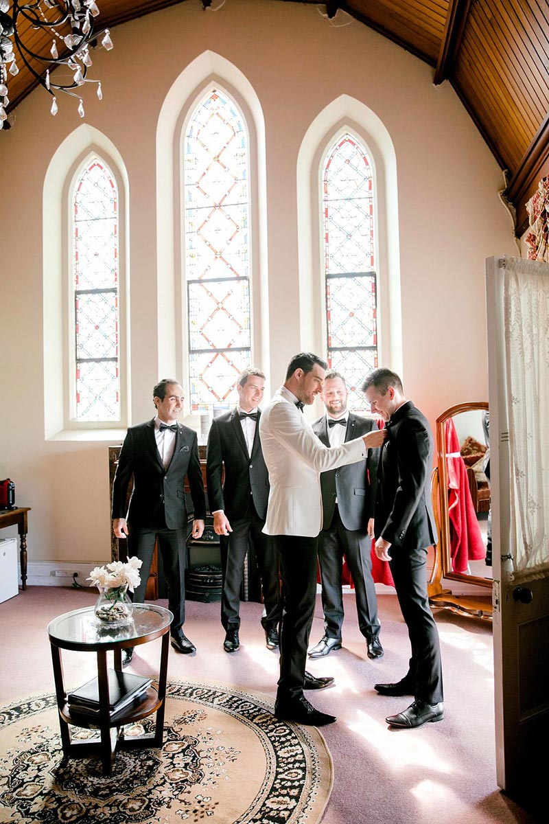 Groom and his Groomsmen getting ready.