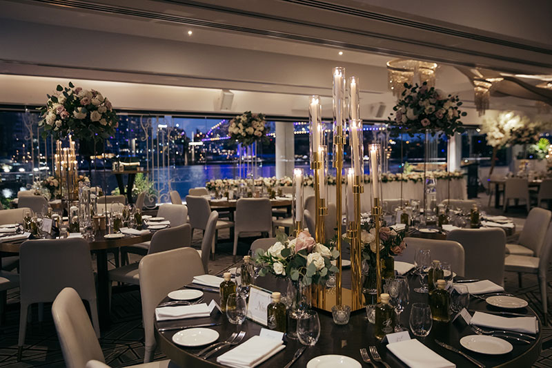 The magical view from the function room at Blackbird Private Dining & Events.