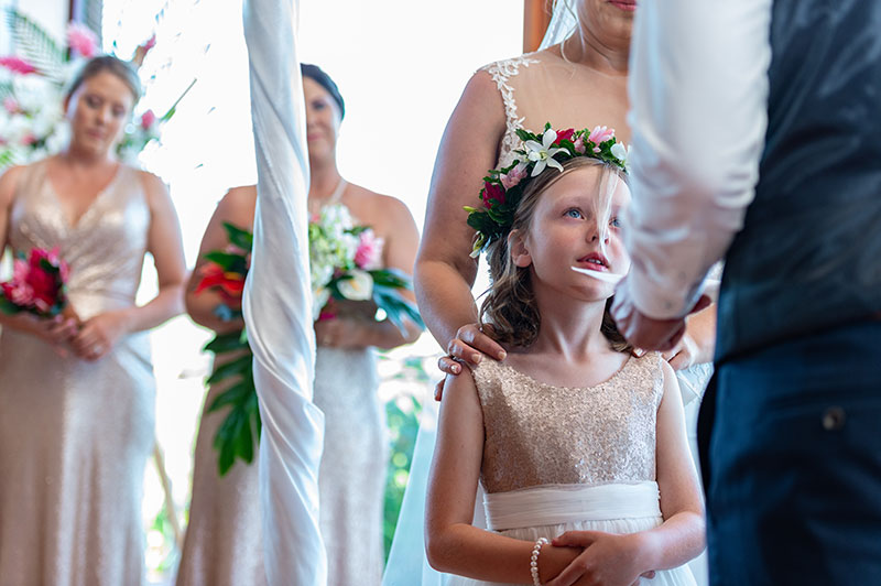 Wedding in Fiji with daughter involved.