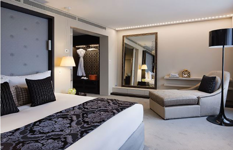 The luxurious and spacious Opera suite at Sofitel Brisbane Central.