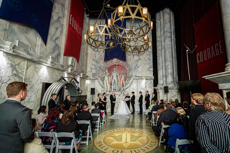 Wedding ceremony at Village Roadshow Theme Parks.