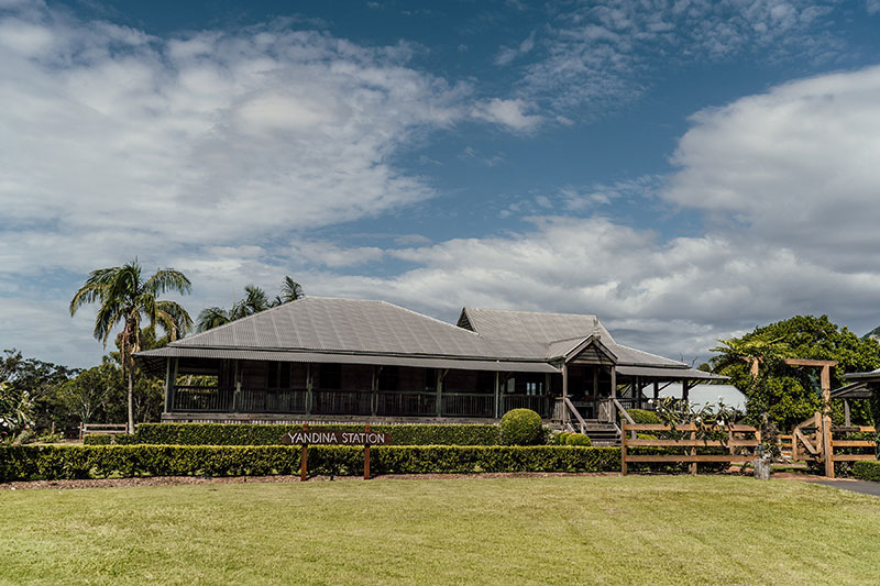 The historic Homestead at Yandina Station.