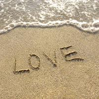 Love written on the sand