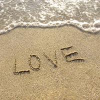 Love written on the sand