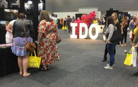 'I DO' giant letter display by Light Up Letters