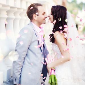 Young couple wedding shot