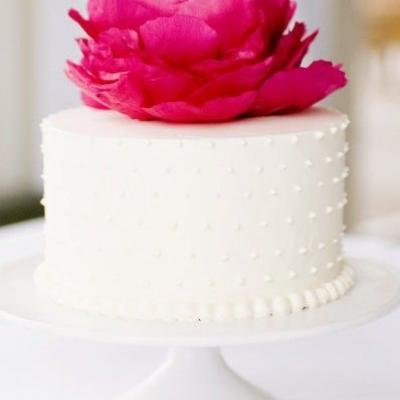 small intimate wedding cake options