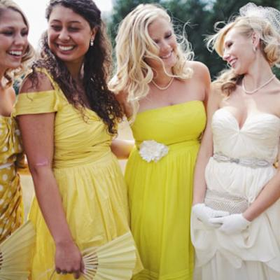 Same same but different bridesmaids dresses