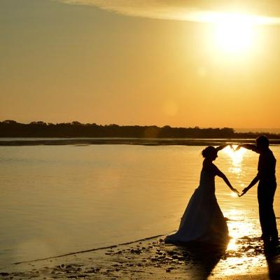 Sunshine Coast Sunset Wedding