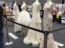 Wedding gown display by Helena Couture Designs
