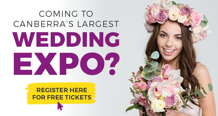 Banner with a button for Free tickets to the Canberra Wedding Expo.